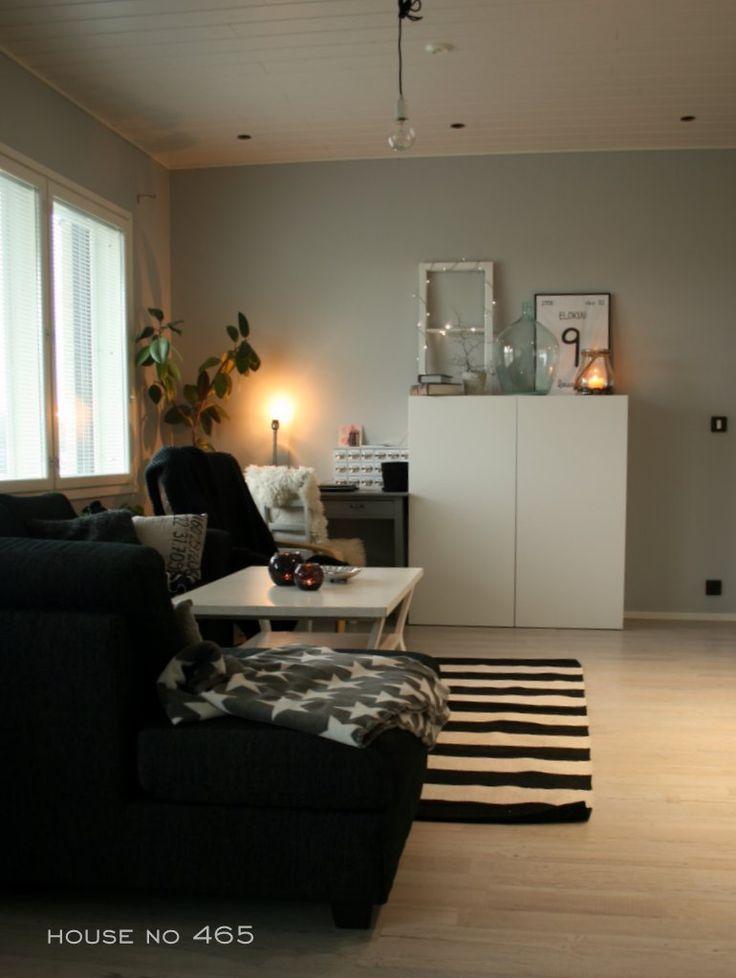 House No 465 #olohuone #livingroom #black #white #grey