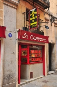 La Campana - I must admit I always go here with the family when we go to Madrid. A couple of euros for a bocadillo de calamares is great value. Try the patatas bravas, too.