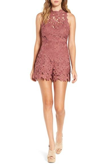 Free shipping and returns on ASTR Open Back Lace Romper at Nordstrom.com. Swirling floral lace in the perfect shade of dusty rose adds romantic texture to a beautifully tailored romper that features a playful open back.