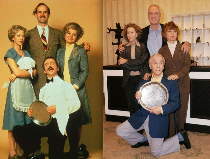 """The cast of """"Fawlty Towers"""": Then & Now - Imgur This series definitely made me laugh!"""