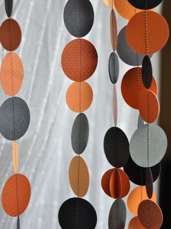 Halloween paper garland, Homemade Halloween Decorations for a Festive Celebration