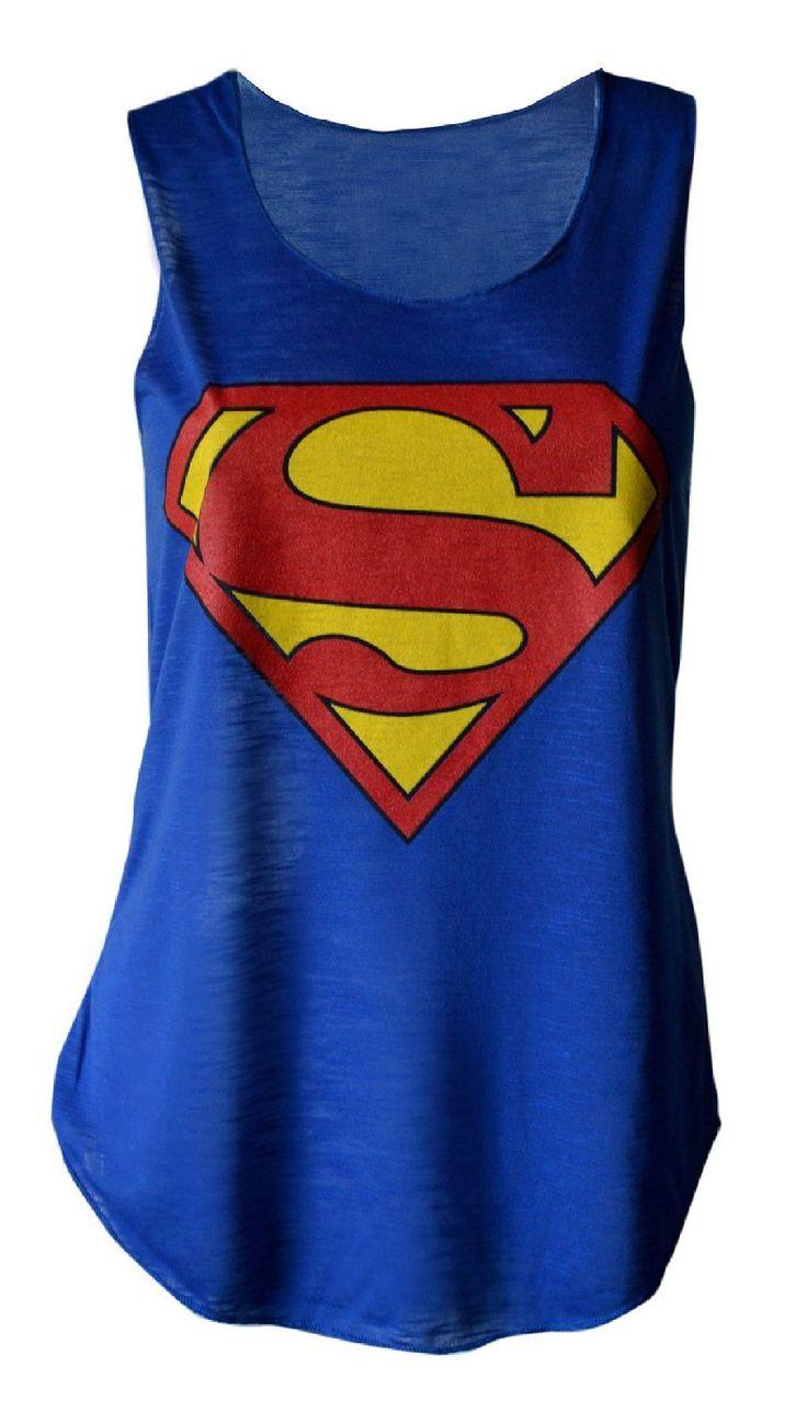 MyMixTrendz - Womens Superman Batman Crop Top Tie Up Vest at Amazon Women's Clothing store: