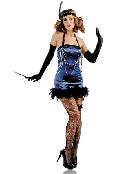 blue flapper costume wholesale, flapper hairstyle