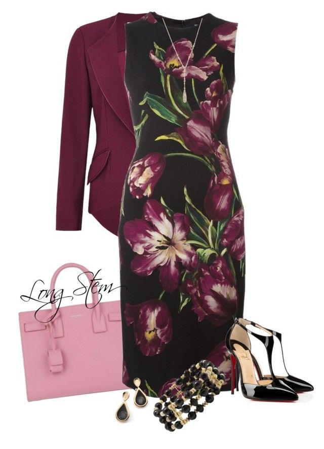 2/27/17 by longstem on Polyvore featuring Dolce&Gabbana, Hebe Studio, Christian Louboutin, Yves Saint Laurent, M&Co, Moran Porat Jewelry and Anne Klein