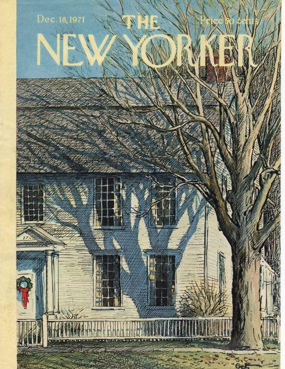 New Yorker Magazine Cover December 18, 1971, Gertz, artist