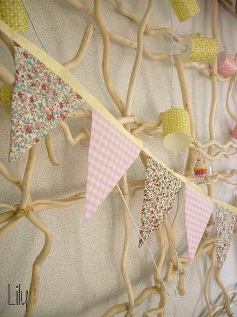 Lily's Little Factory: Une guirlande en tissus sans couture… ou presque !