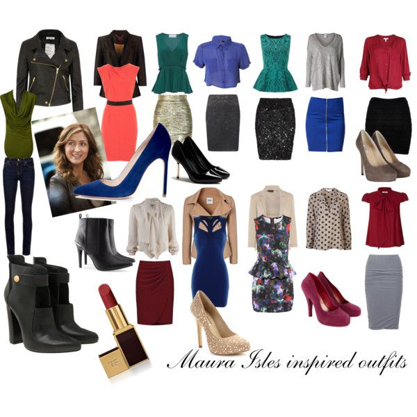 Maura Isles inspired outfits. by iwonder on Polyvore featuring H&M, Lavender Brown, Haute Hippie, Joie, Miso, Orla Kiely, Vero Moda, Prabal Gurung, Therapy and Shine