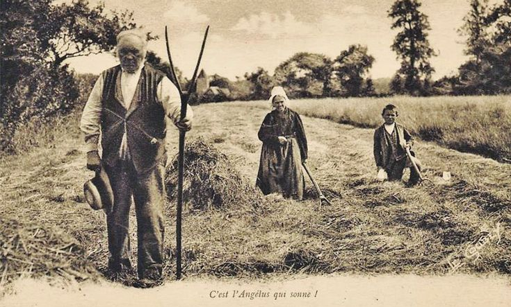 Farm workers in Calvados, Normandy, France