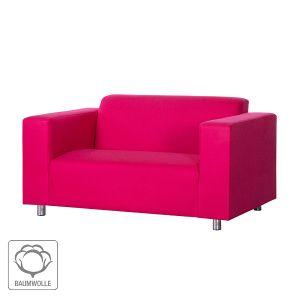 Sofa Oslo (2-Sitzer) - Baumwollstoff Pink der Marke roomscape, Maße: Breite: 177 cm Höhe: 76 cm Tiefe: 80 cm Sitzhöhe: