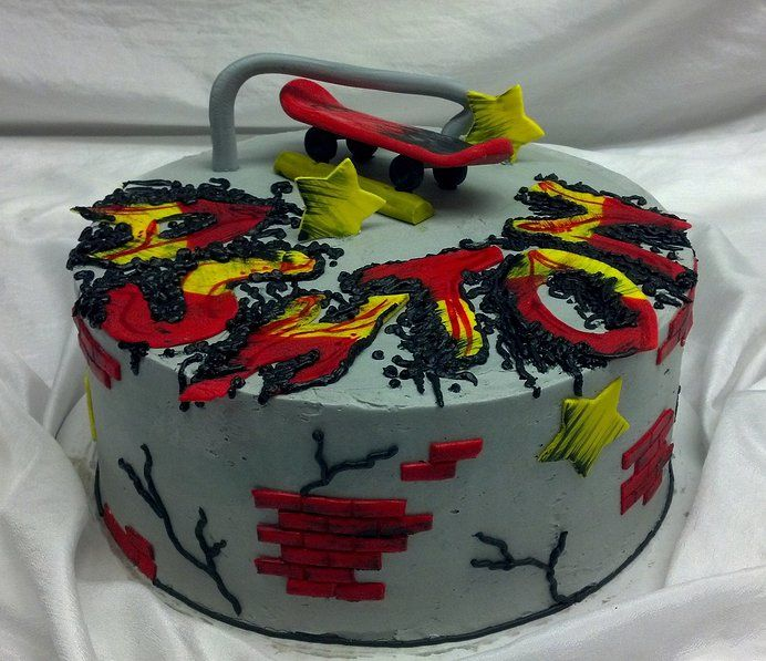 13 best skateboard cake images on Pinterest Skateboard cake