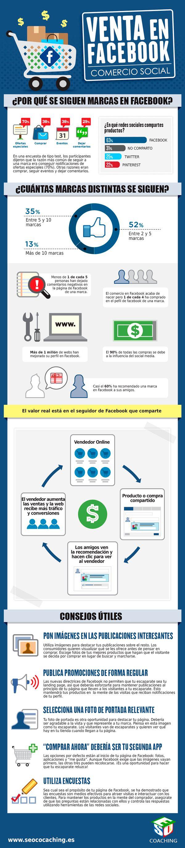Venta en FaceBook (comercio social) #infografia #infographic #socialmedia #ecommerce