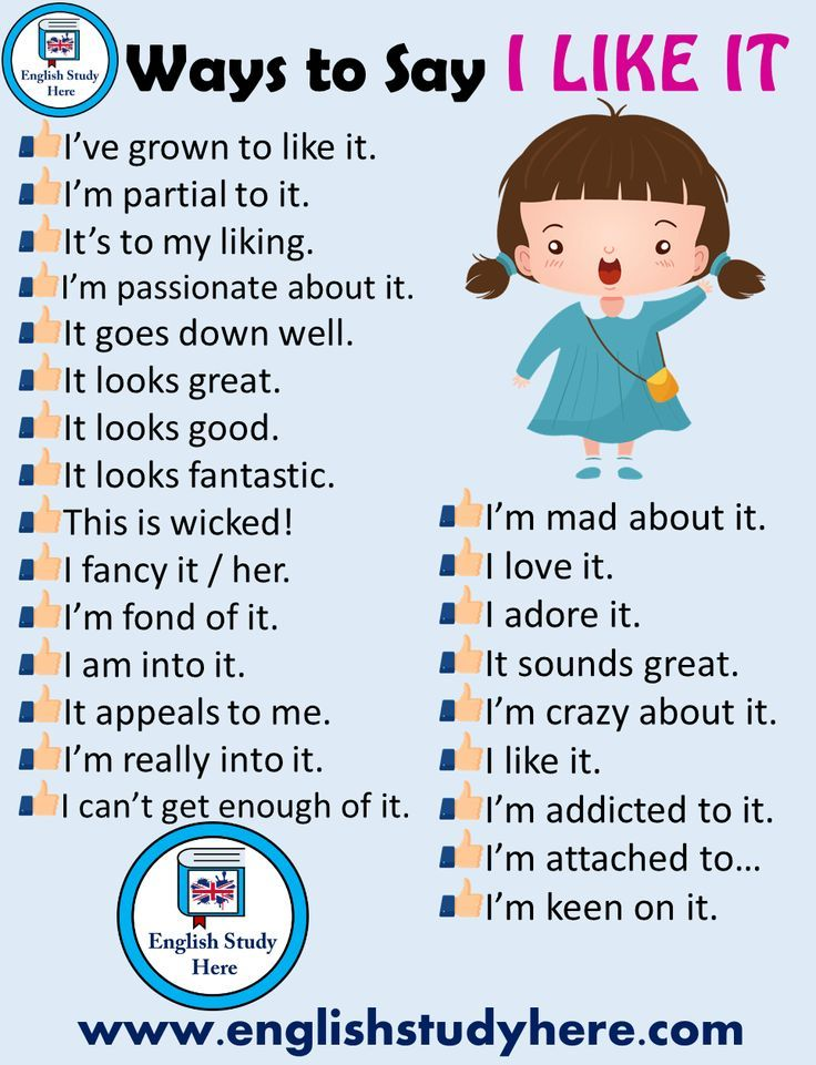 24 Ways To Say I Like It In English English Study Conversational English English Phrases