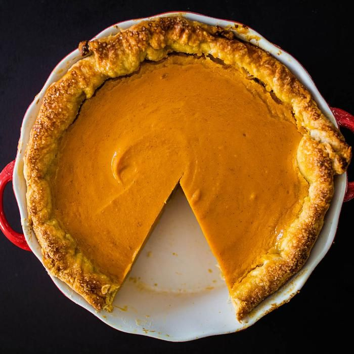 must try sweet potato pie; made with a homemade flakey crust filled with a super rich filling made with melted butter and sweet condensed milk