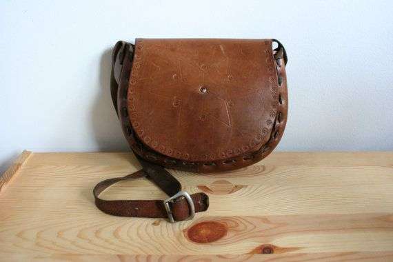 Brown leather bag vintage brown leather by TaylorGirlsShop on Etsy