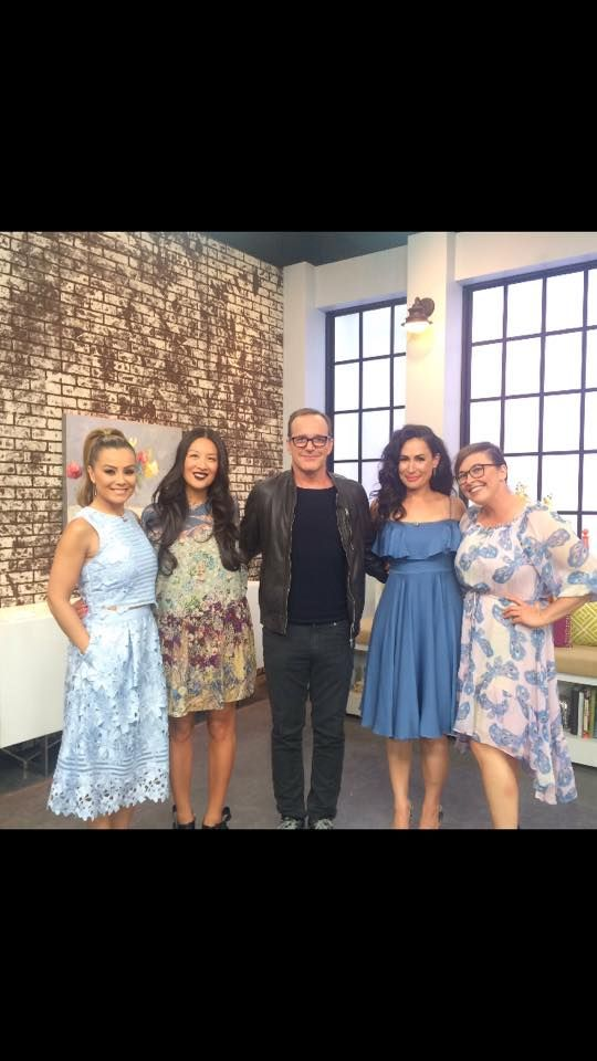 Clark Gregg and the ladies of The Social 2016