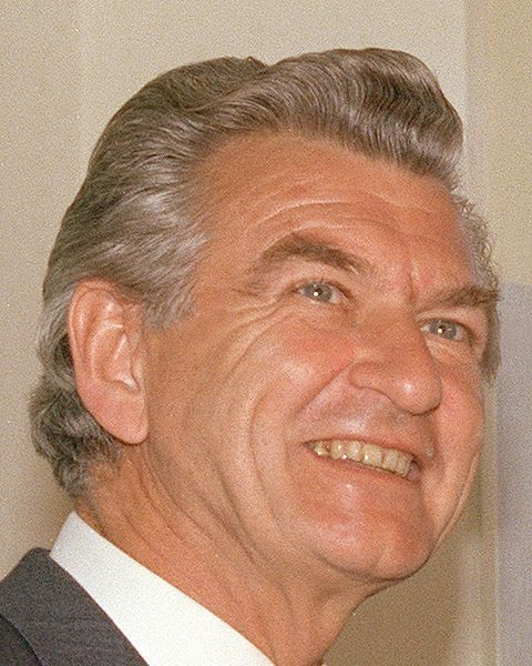 """Bob Hawke...Creation of an """"inner"""" cabinet, dismantled the tariff system, privatised state sector industries. Introduction of fringe benefits tax and a capital gains tax,  reintroduction of Medibank (under the name Medicare), introduction of occupational superannuation, the elimination of poverty traps in the welfare system, an increase in the real value of the pension[40],  Australia's public health campaign,  Gulf War, Defeated in a leadership challenge by Paul Keating. Resigned."""