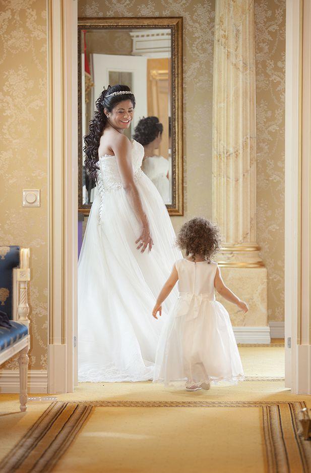 Bride and sweet Maria. Photo By Teija Pekkala