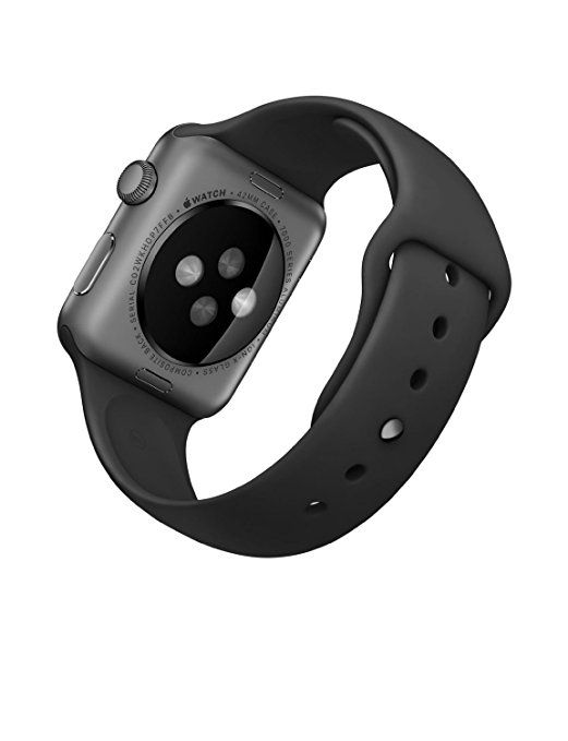 Amazon.com: Apple Watch Sport 42mm Space Gray Aluminum Case with Black Band (Certified Refurbished): Cell Phones & Accessories