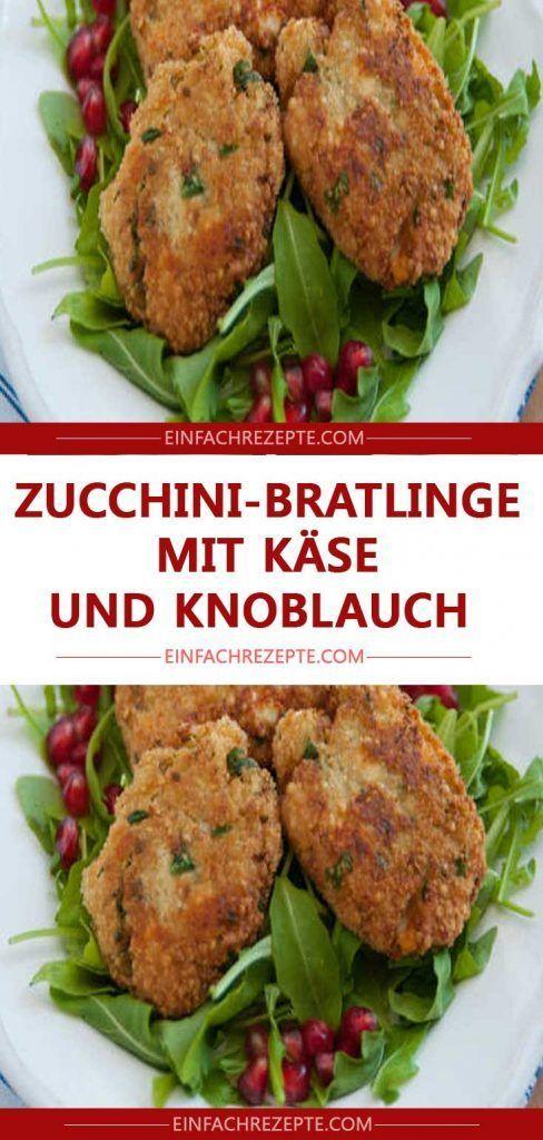Zucchini-Bratlinge mit Käse und Knoblauch 😍 …