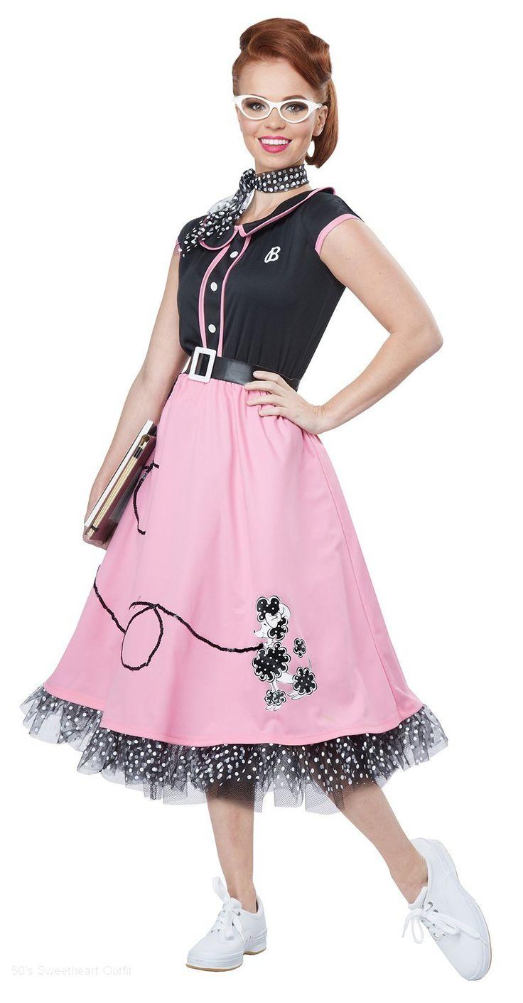 Mejores 28 imágenes de 50\'s Dress en Pinterest   Disfraz de los años ...