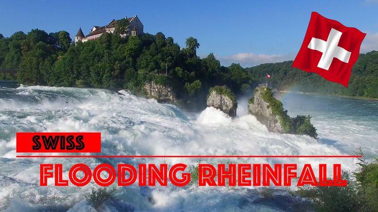 Hochwasser am Rheinfall 2016 [4K] - YouTube