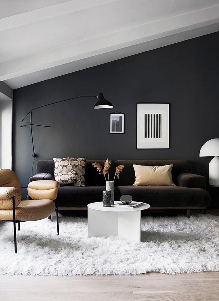 Living Room Lighting Ideas Scandinavianlivingrooms Modern Wall Light On Dark Grey Wall In Scandinavian Style Living Room