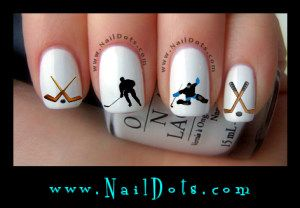 hockey nails sport football and nail decals on pinterest