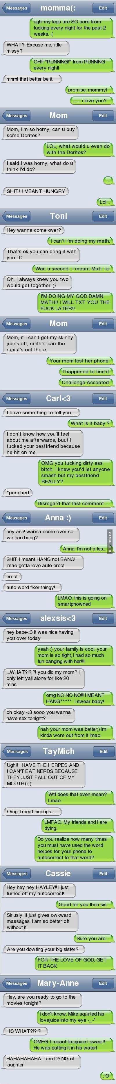 Funny autocorrect fails (BONUS Part 6) Is it just me, or did Barney Stinson answer the fourth one?