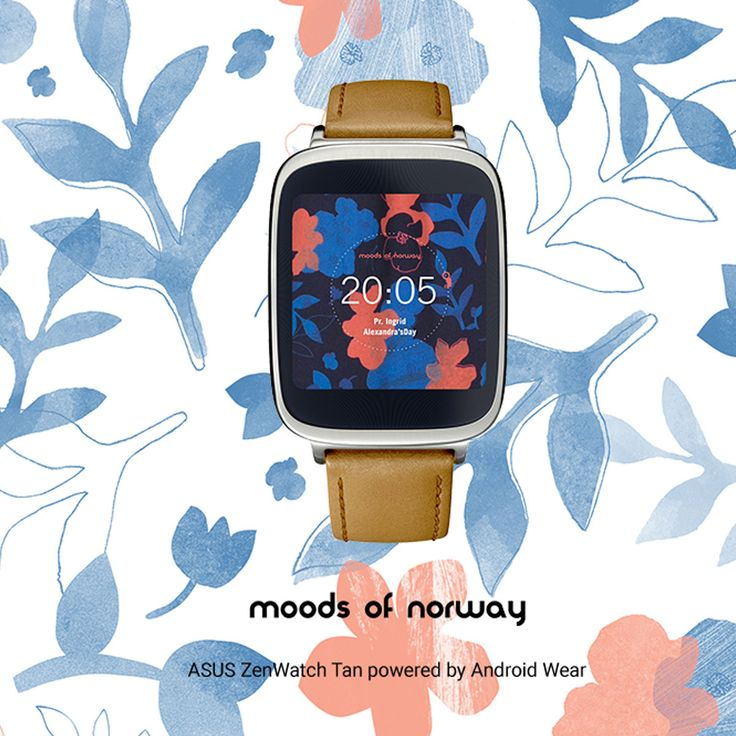 Add a new face watch to your ASUS #ZenWatch designed by moods of norway.