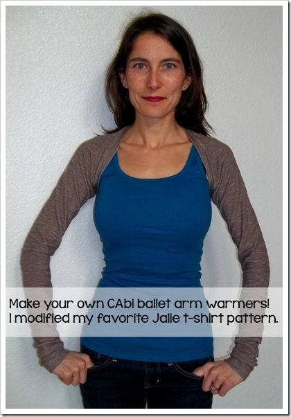 How to make ballet arm warmers with thumb holes by modifying your favorite t-shirt pattern
