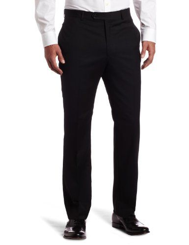 Save $80.01 on Tommy Hilfiger Men's Flat Front Trim Fit 100% Wool Suit Separate Pant; only $69.99