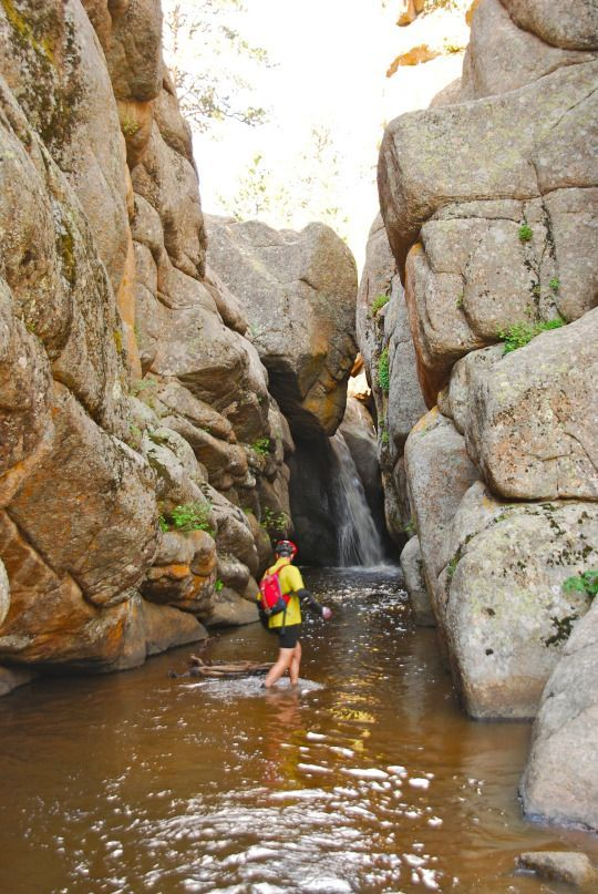 The Most Amazing State Park You've Never Heard of The Most Amazing State Park You've Never Heard of. Make sure to check out Hidden Falls in Curt Gowdy State Park, which straddles Cheyenne and Laramie, Wyoming.
