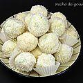 Boules de neige coco chocolat blanc
