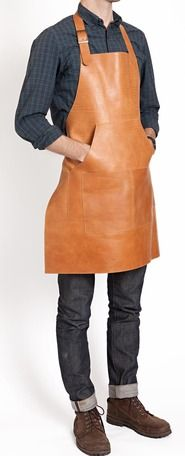 Man in apron = got stuff to do! @lindateet this is the type of apron I was thinking of. Like the neck detail