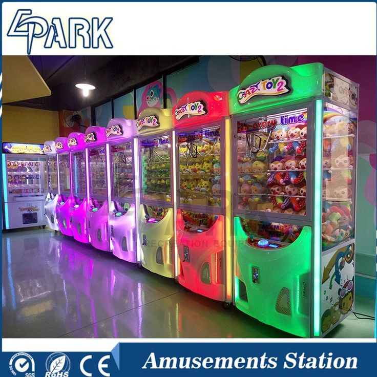 Beautiful design Crazy Toy 2 claw gift vending game machine, key master arcade claw machines best sell