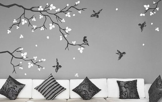 Wall Stickers for Bedrooms Realistic Natural Tree by DecalIsland, $62.00