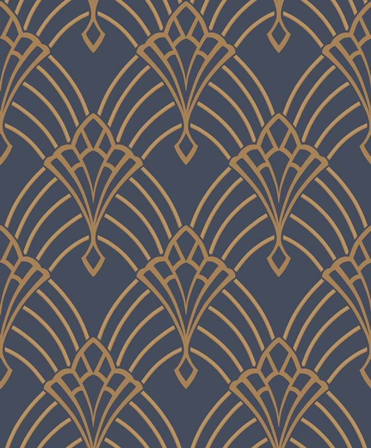 Pattern 305340 – Rasch Astoria Deco Blue/Gold