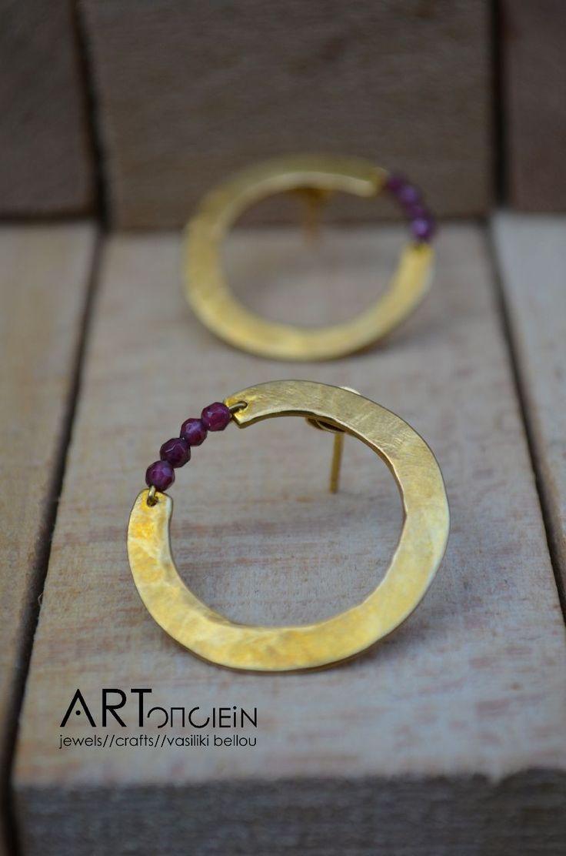 Jewelry | Jewellery | ジュエリー | Bijoux | Gioielli | Joyas | Rings | Bracelets | Necklaces | Earrings | Art | Gold-plated silver earrings at ARTopoiein jewels