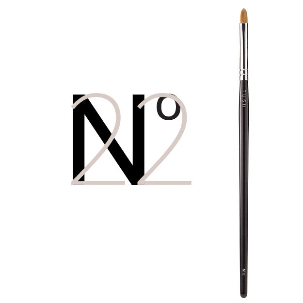 Nr 22 Lip Brush. Lip brush made of soft sable for outlining and filling in the lips. The flat brush is slightly rounded at the edges and tapers to a fine point for defining and/or correcting the lip line. Available at www.tushbrushes.com