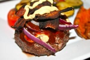 Homemade natural beef burgers