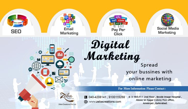 #ZebaCreations‬ offers quality ‪#DigitalMarketing‬ ‪Services‬ in ‪#Hyderabad‬. It is the leading company which focuses on the customer needs by providing best services which leads to growth of customer's ‪#Business‬. See more @ http://www.zebacreations.com