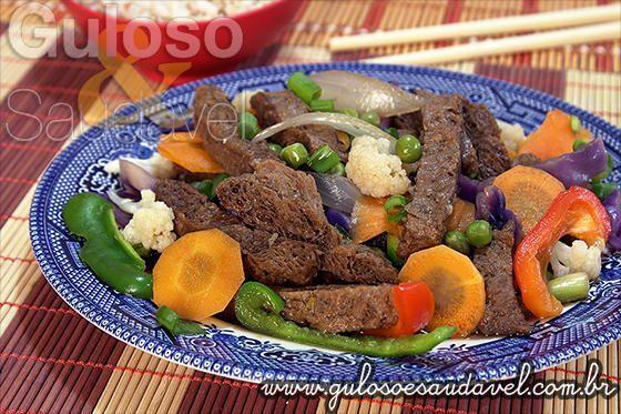 Receita de Carne de Soja Oriental