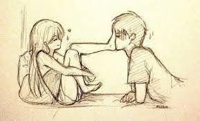 Kissin sur moi va fille