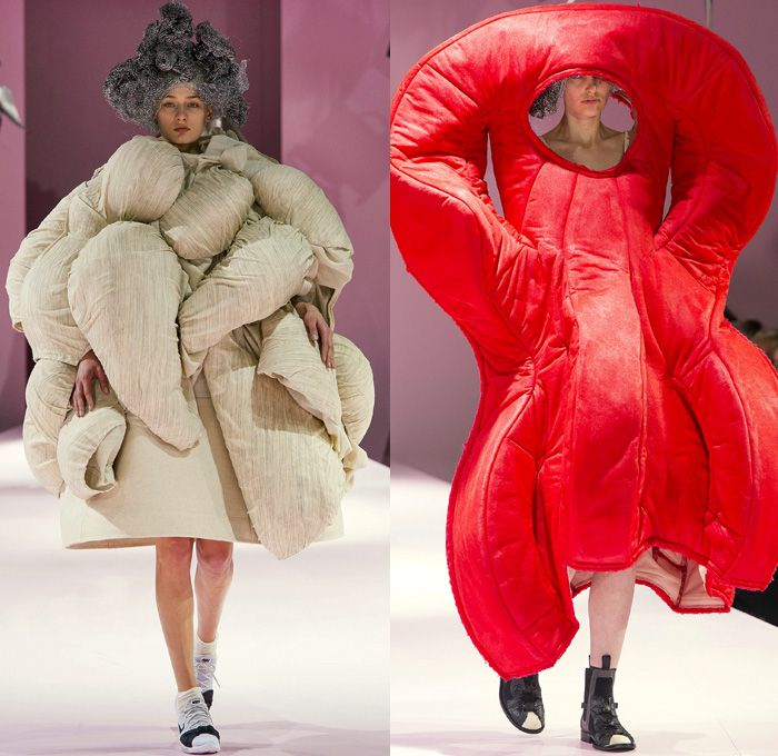 Comme Des Garcons Designer Rei Kawakubo 2017 2018 Fall Autumn Winter Womens Runway Catwalk Looks Mode A Paris Fashion Fashion Week Runway Denim Jeans Fashion