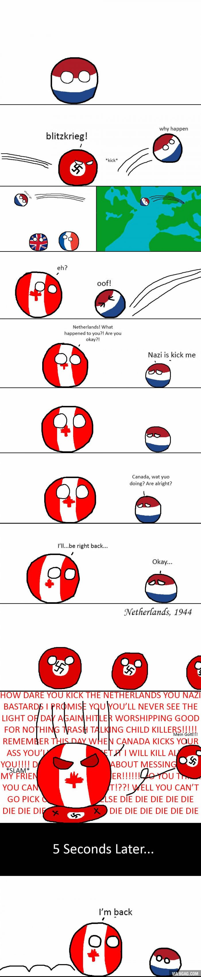 Countryballs: Canada comes to the Netherlands' aide