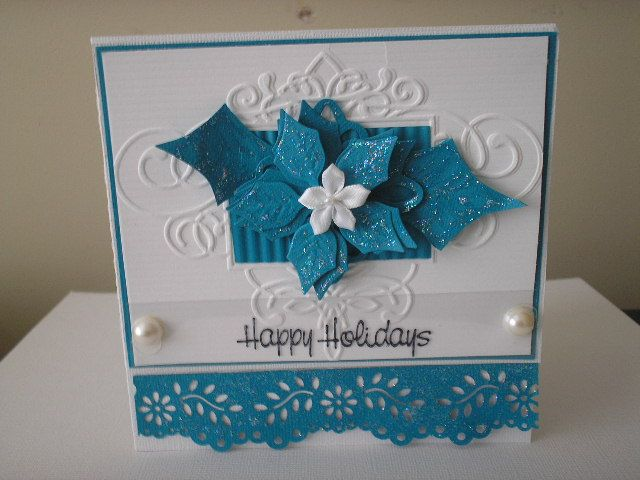 Blue Poinsettias by dorisadams - Cards and Paper Crafts at Splitcoaststampers