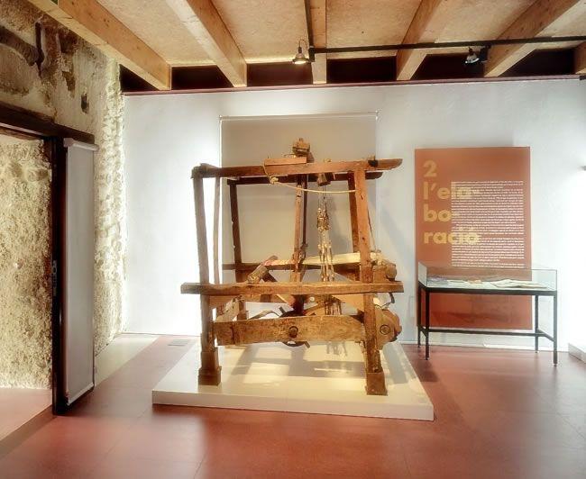 Mi telar en museo textil ontinyent