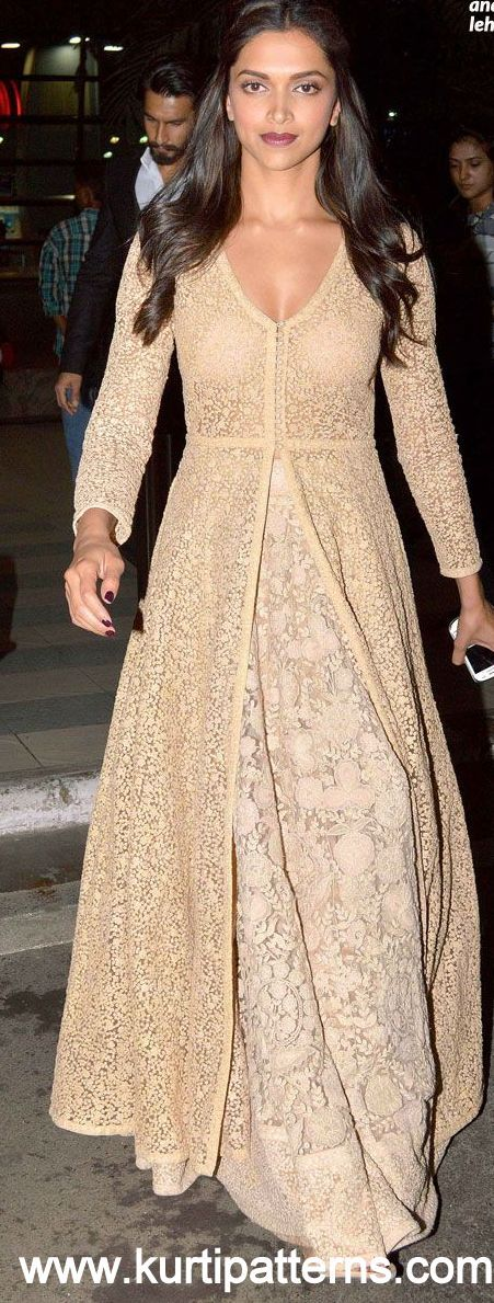 Dress No. 5 - Deepika Padukone Chikankari Anarkali                              …