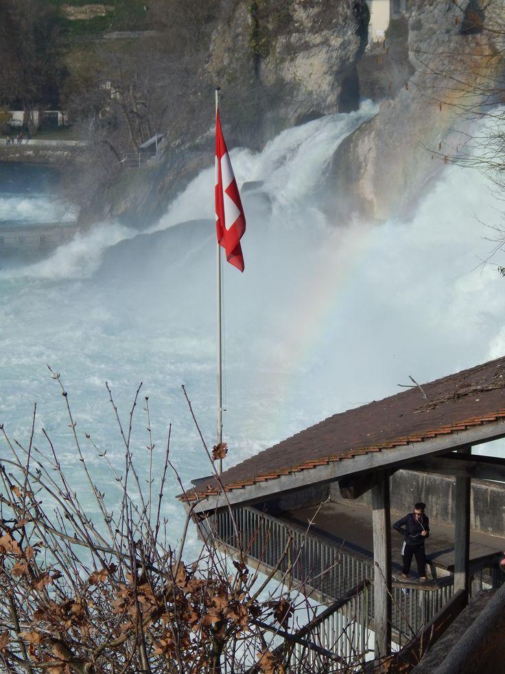 #Rheinfall #Schaffhausen #Switzerland #Rainbow#
