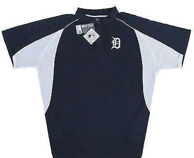Detroit Tigers Majestic MLB Mens Birdseye Golf Polo Shirt- Big & Tall Sizes -NWT